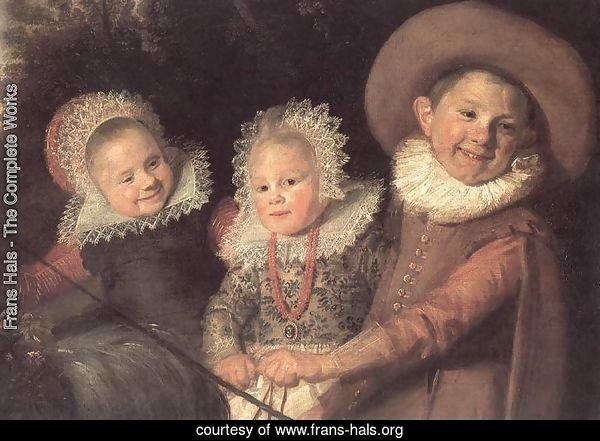 Three Children with a Goat Cart (detail)  c. 1620