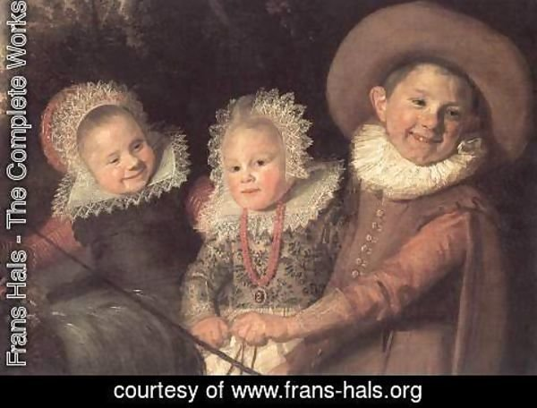 Frans Hals - Three Children with a Goat Cart (detail)  c. 1620