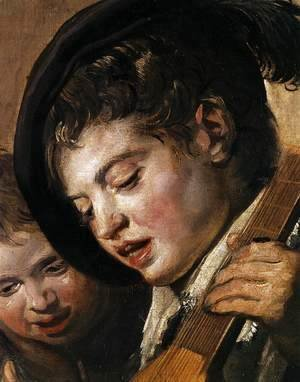 Frans Hals - Two Boys Singing (detail)  c. 1625